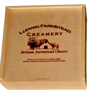 Square Cheese box with sliding lid